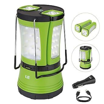 LE 600lm Lanterne de Camping LED Rechargeable par port USB, avec 2 ...