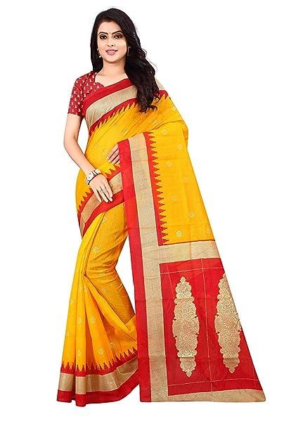 dbe9ff973f072f Nirmla Fashion Bhagalpuri Foil Cotton Silk Saree With Blouse Piece(Saree  for Foil bhagalpuri_Free Size