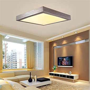16W LED Warmweiß Modern Deckenlampe Deckenleuchte Schlafzimmer Küche Flur  Wohnzimmer Lampe Wandleuchte Energie Sparen Licht Silber