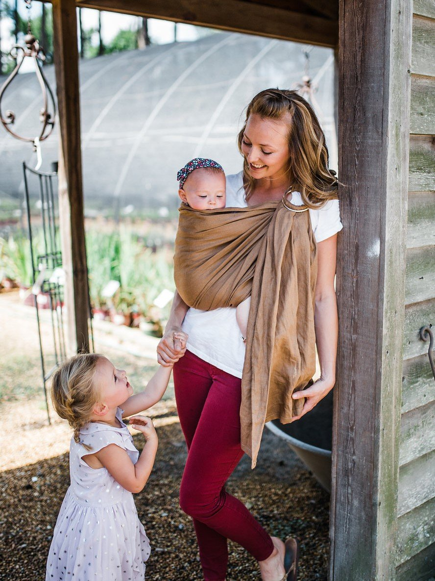 103e35bf9da Amazon.com   Bibetts Pure Linen Ring Sling  Gray  Baby Carrier - CPSIA  compliant - Infant