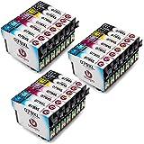 Uoopo Compatible Reemplazo para Epson T0791 T0792 T0793 T0794 T0795 T0796 Cartuchos de tinta Alta Capacidad, Multipack para Epson Stylus Photo P50 1500W 1410 Artisan 1430 PX650 PX660 PX700W PX710W PX720WD PX730WD PX800FW PX810FW PX820FWD PX830FWD Impresora, Juego de 21 ( 6Negro 3 Cian 3 Magenta 3 Amarillo 3 Luz Cian 3 Luz Magenta)
