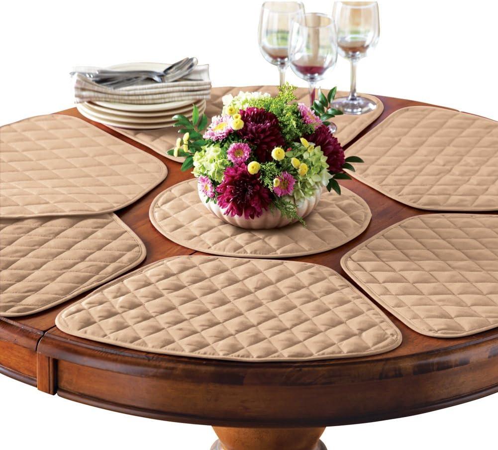 Amazon Com Collections Etc Kitchen Table Placemat And Centerpiece Set 7 Pc Beige Home Kitchen