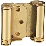 """National Hardware N115-303 V127 Double-Acting Spring Hinges in Brass, 3"""", 2 piece"""