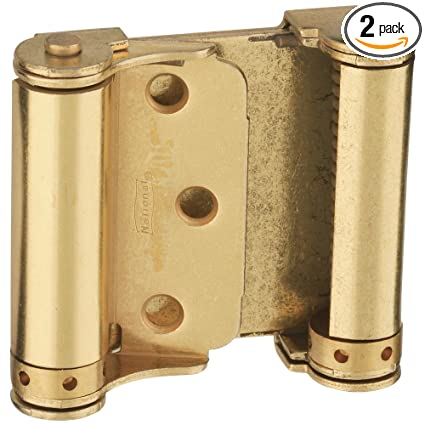 National Hardware N115 303 V127 Double Acting Spring Hinges In Brass,  3u0026quot;