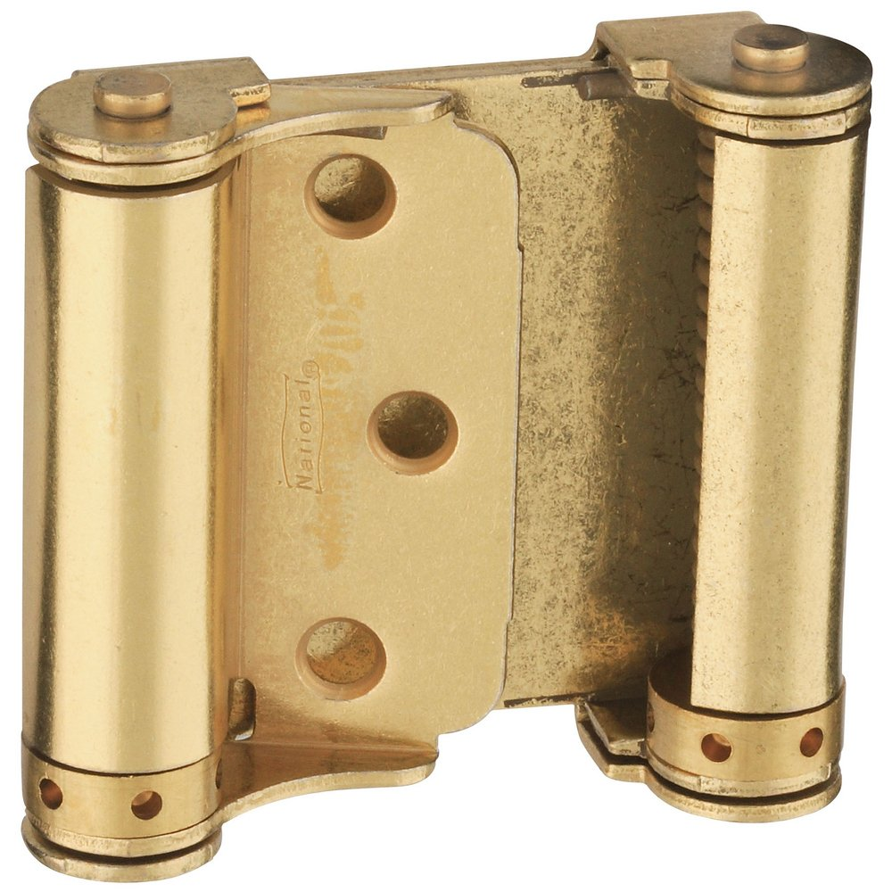 National Hardware N115-303 V127 Double-Acting Spring Hinges in Brass , 3'', 2 piece