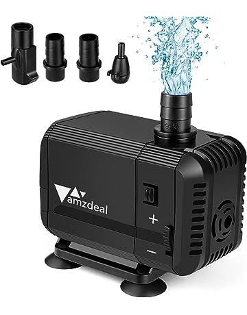 amzdeal Bomba Sumergible 800L/H 8W Bomba de Agua Ultra Silenciosa para Pecera Acuario Jardín