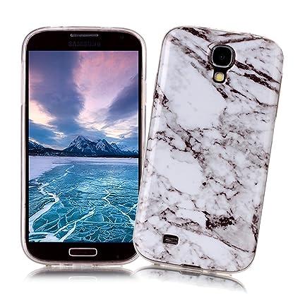 XiaoXiMi Funda Samsung Galaxy S4 con Textura de Mármol Carcasa de Silicona Slim Soft TPU Silicone Case Cover Funda Protectora Carcasa Delgado Ligero ...