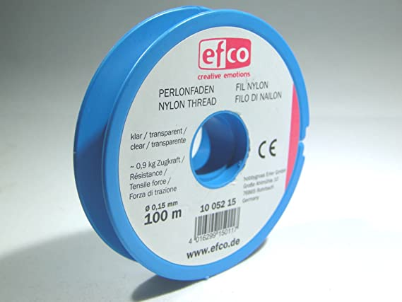 efco/ 0,9/kg /Fuerza de tracci/ón Hilo 100/m 0,15/mm de di/ámetro Claro Poliamida