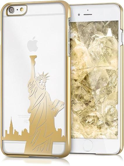kwmobile Cover Compatibile con Apple iPhone 6 Plus / 6S Plus - Custodia Rigida Trasparente per Cellulare - Back Case Cristallo in plastica - Statua ...