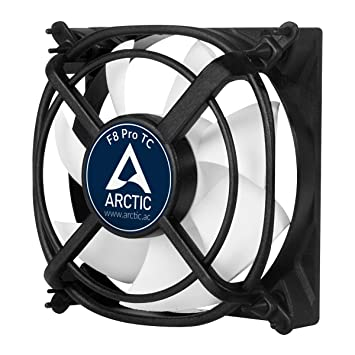 ARCTIC F8 Pro TC - 80mm Low Noise Temperature Controlled Case Fan with  Unique Anti-Vibration System