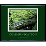 ADVANTUS Framed Motivational Print, Communication, 30 x 24 Inches, Black Frame (78026)