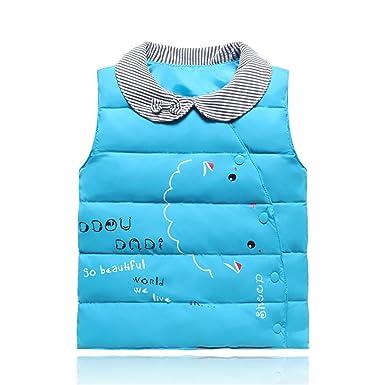 327eb280fa6c Amazon.com  Mofgr Baby Vests Newborn Boy Girls Jacket Kids Winter ...