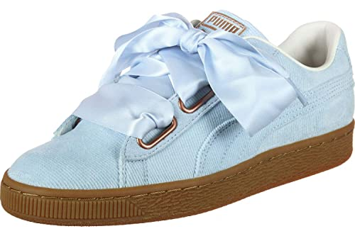 Puma Mujer Cerulean Azul Corduroy Basket Heart Zapatillas: Amazon.es: Zapatos y complementos