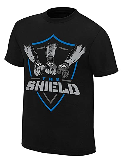 c26968db Star Footware Black Cotton WWE t Shirts for Men Roman Reigns(Shield Tshirt  WWE for