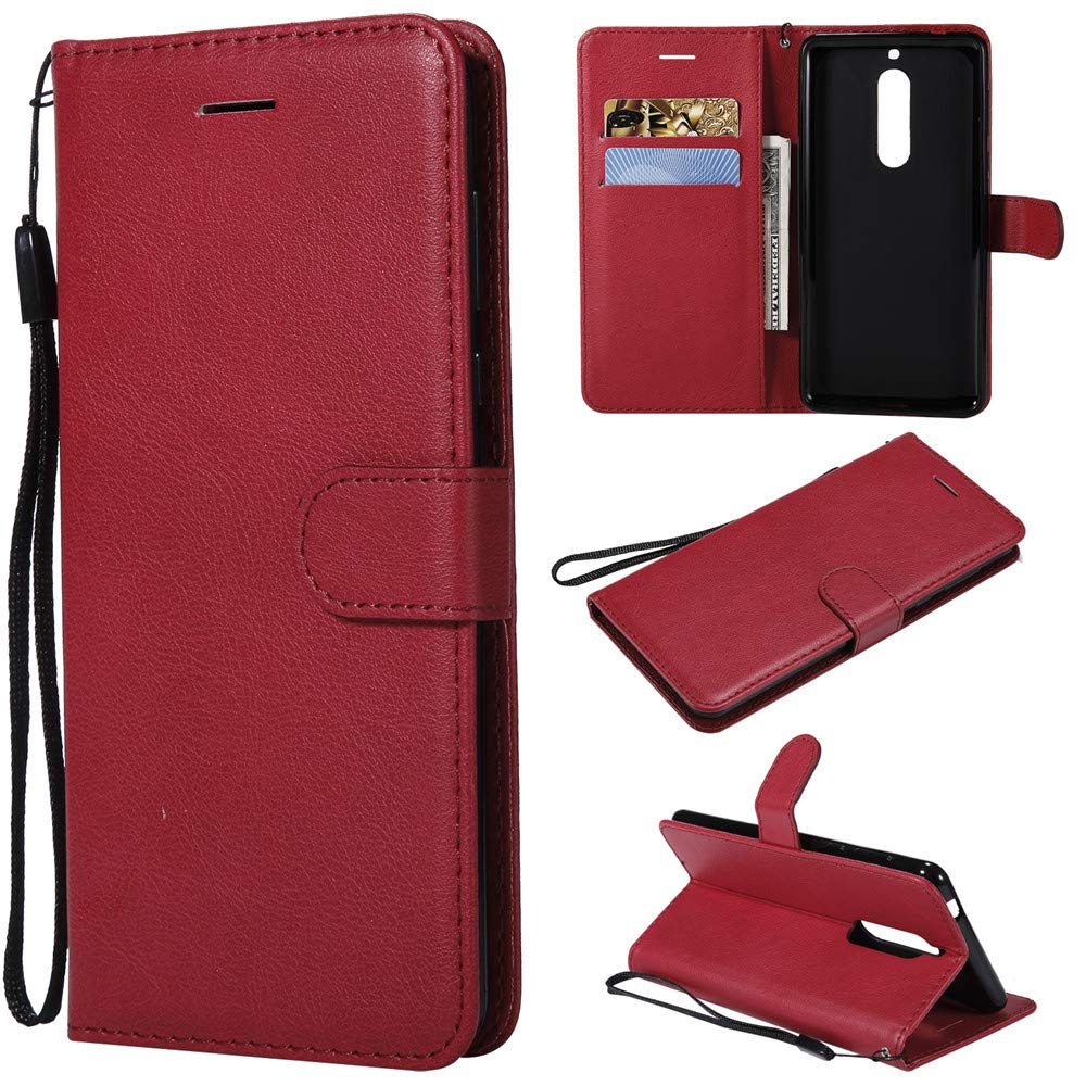 quality design fcba2 3d209 Amazon.com: Luckyandery Nokia 5 Leather Case with Magnet,Nokia 5 ...
