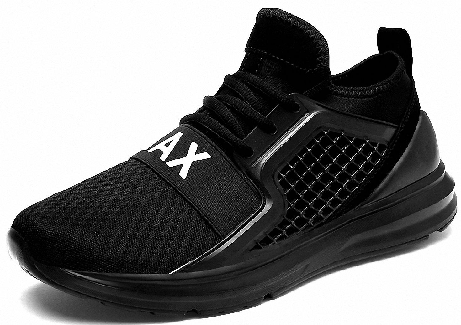 Weweya Men's Road Running Shoes Athletic Training Shoes Casual Walking Sneakers B07DNWDZ31 6 M US|Black