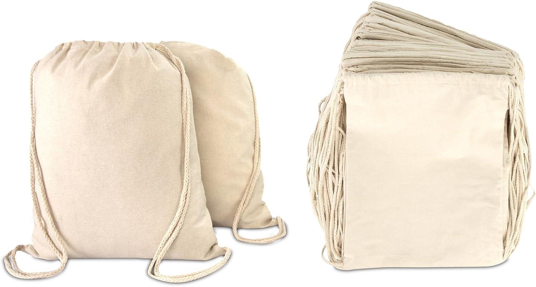 Amazon.com   DALIX Canvas Drawstring Bag String Backpack Mens Womens Bulk  Natural 12 Pack   Drawstring Bags