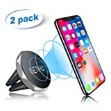 Amazon Price History for:GETIHU Car Phone Mount Universal 2 Pack Air Vent Cell Phone Holder Magnetic Stand for iPhone 7 6 6S Plus 5s Samsung HTC SONY All Smartphones GPS Mobile Magnet Support …
