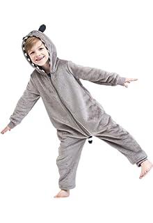 02fabb657f4 Angelina Women's & Kid's Fleece Novelty One-Piece Hooded Pajamas at ...