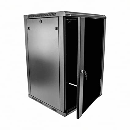 Navepoint 18U Deluxe IT Wallmount Cabinet Enclosure 19-Inch Server Network Rack With Locking Glass  sc 1 st  Amazon.com & Amazon.com: Navepoint 18U Deluxe IT Wallmount Cabinet Enclosure 19 ...