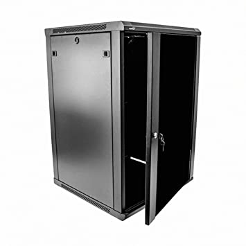 Navepoint 18U Deluxe IT Wallmount Cabinet Enclosure 19 Inch Server Network  Rack With Locking Glass