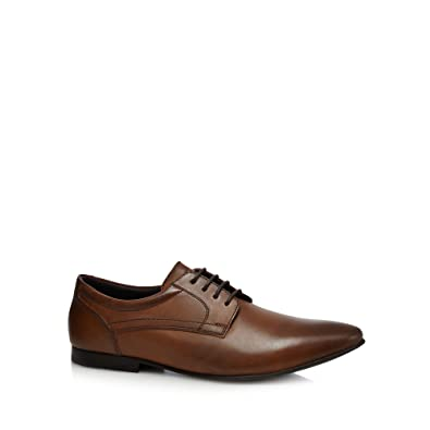 Base London Tan leather 'Phipps' Derby shoes