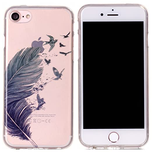 24 opinioni per Voguecase® Per Apple iPhone 7 4.7,Custodia Silicone Morbido Flessibile TPU