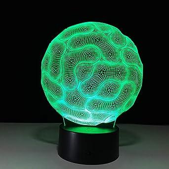 Abstracción Circular Usb 3D Luz Nocturna Lámparas De Mesa Led Con Pilas Led Lámparas De Luz Usb Para Niños: Amazon.es: Iluminación