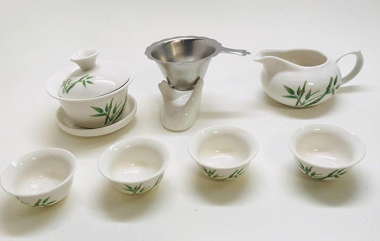 Music City Tea Gaiwan Tea Set With Gift Box On Sale. (Bamboo Set A) MCTBA8