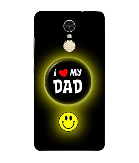 best service 702e2 4f627 REDMI NOTE 4 Back Cover I Love My Dad Button Badge With: Amazon.in ...