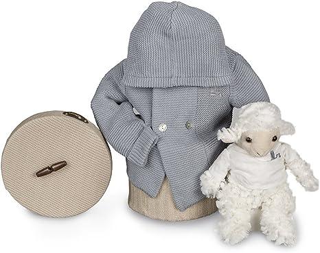Canastilla regalo bebé en caja Happy con Chaqueta Punto Liso ...
