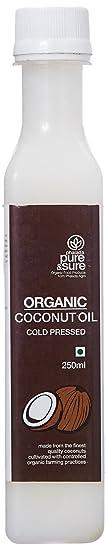 Pure & Sure Organic Coconut Oil, 250ml