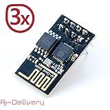AZDelivery esp8266 01 ESP-01 ESP01 Wifi modulo per Arduino, Raspberry Pi e Microcontroller con eBook gratuito!