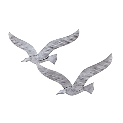 Amazon Com Elitecrafters Flying Seagull Birds Handmade 3d Wall Art