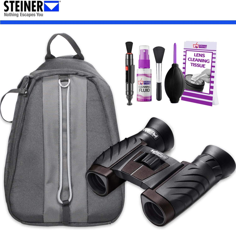 Steiner Safari UltraSharp 8x22 Binoculars with Padded Backpack and Cleaning Kit