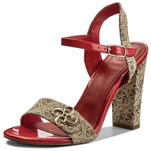 Guess Amiyah 2 beibr ROSSO LINEA DONNA SANDALI tacchi Hi