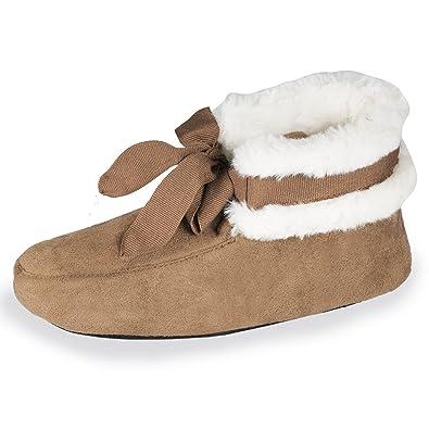 a4fe44fba8e76 Isotoner Chaussons Bottillons Fille Fourrure  Amazon.fr  Chaussures et Sacs
