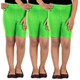 Lula School Girl's Spandex Shorts, Pack of 3