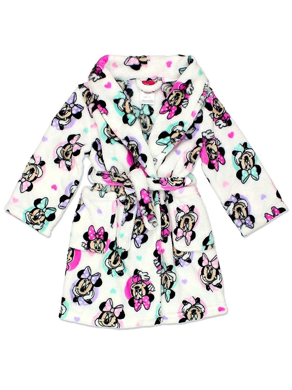 Minnie Mouse Girls Plush Fleece Bathrobe Robe