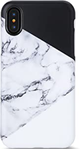 iPhone X Case,iPhone Xs Case,VIVIBIN Cute Black White Marble for Men Women Girls Clear Bumper Slim Fit Matte TPU Soft Silicone Rubber Best Protective Cover Thin Phone Case for iPhone X XS