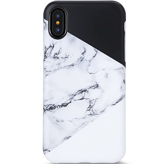 info for cae1f 0c2bd iPhone X Case,iPhone Xs Case,VIVIBIN Cute Black White Marble for Men Women  Girls Clear Bumper Slim Fit Matte TPU Soft Silicone Rubber Best Protective  ...