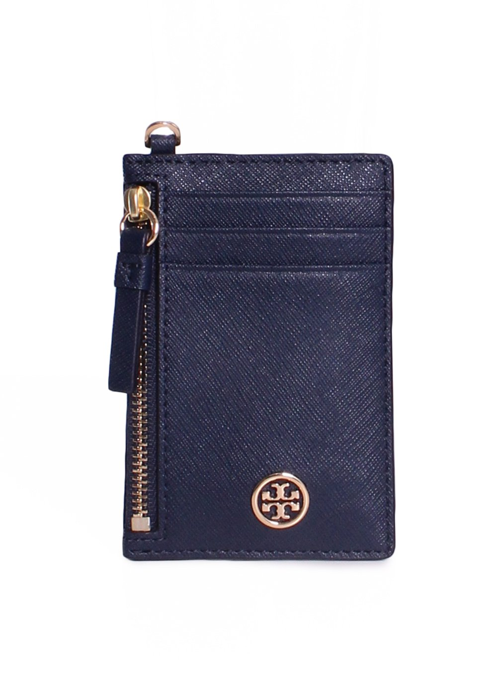 Tory Burch Robinson Lanyard Card Case Wallet 46409 (Royal Navy) by Tory Burch