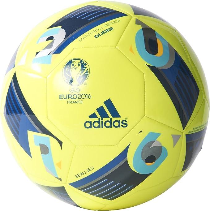 adidas Euro16 Glider - Balón de fútbol, Color Blanco, Talla 5 ...