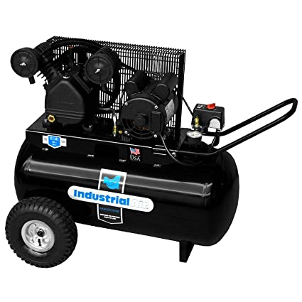 Electric Air Compressor >> Industrial Air Ip1682066 Mn 20 Gallon Portable Electric Air Compressor 1 6 Horsepower