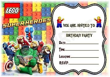 LEGO Marvel Superheroes cumpleaños fiesta invita a - diseño ...
