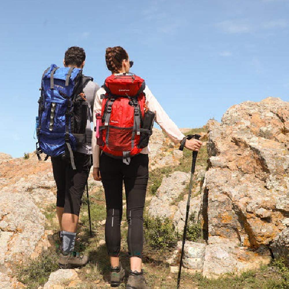 Calcetines de Monta/ña Acolchados y Antiampollas 2 Pares Calcetines Mujer Hombre Senderismo Calcetines para Trekking Transpirable Alto Rendimiento,T/érmicos Transpirables