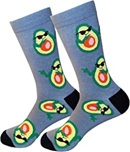 Win A Free Funny Socks Women and Men Avocado Gifts Funky Socks