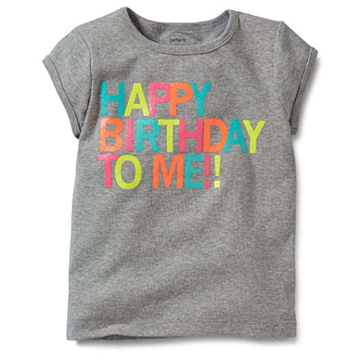 Carters Baby Infant Girls Happy Birthday Tee 6 Months