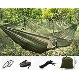 Camping Hammock,Flower Sea9 Jungle Hammock with Mosquito Net Travel Bed Lightweight Parachute Fabric Double Hammocks for Indoor, Hiking,Backyard,Beach,Yard Gear