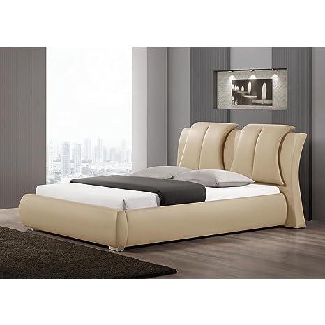 Amazon.com: Baxton Studio Malloy moderno cama con cabecero ...